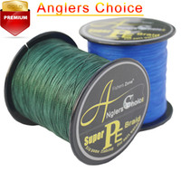 Anglers Choice 4 Strands PE плетеные рыболовные линии Top Multifilament Fishing Line 500m 546YARDS 10LB 20LB 30LB 40LB 50LB 60LB 80LB 100