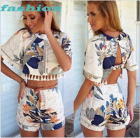 New Fashion Two Pieces Bandage Women Jumpsuit Summer Short F...