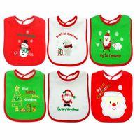 Bambini di Natale Bibs Bandana Bibs Impermeabile Cotton Baberos Babbanning Bambino Bambino neonato Simpatico Carino Salva Asciugamano Panno Panno Baby Regalo