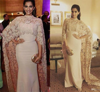 2019 Elegante Vintage Arabisch High Hals Formale Abendkleider Spitze Illusion Kleid mit Jacke für volle Rückerstattung Neue Hot Custom Made Kleider