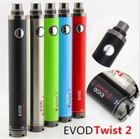 eGo EVOD TWIST II 배터리 3.3V-4.8V 1600mah 가변 전압 vape 펜 모드 전자 담배 vs ecig Vision Spinner 2 3