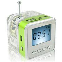 Original NIZHI TT028 Rádio FM Mini Speaker Portátil Micro SD / TF Música MP3 Player Caixa de Som Tela LCD