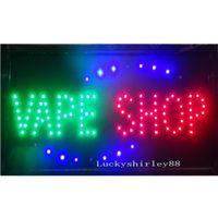 Großhandel 2021 Direktverkauf LED Vape Shop Schild Benutzerdefinierte Neonzeichen der elektronischen Zigaretten-Shop Offene Geschäft 19 * 10 Zoll