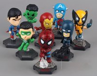 8pcs / set The Avengers Supereroi Captain American Hulk X-men Spiderman Mini PVC Action Figure Giocattoli bambole