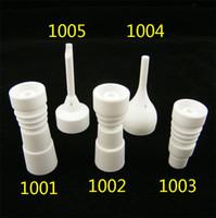 DHL Best 14mm 18mm Uñas de cerámica sin hogar con junta de vidrio hembra-macho Ceramic carb cap Archivo de uñas de cerámica VS GR2 titanium nail En stock !!