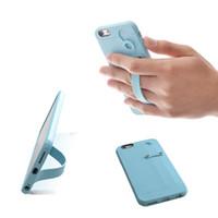 TFY Soft Case Capa com suporte de alça de mão Stand para i6 / 6S Plus