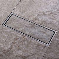 Dreno Waste frente e verso invisível do chuveiro do banheiro das grelhas do assoalho da inserção da telha 300x 110mm