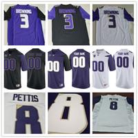 2cc633989 Washington Huskies College 1 Byron Murphy 3 Jake Browning 3 Elijah Molden 8  Dante Pettis Black Purple White Mens Womens Kid Football Jerseys