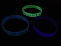 Custom Wristband Glow In The Dark Debossed Color Filled Fluo...