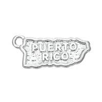 Nueva Moda 20 unids Puerto Rico Mapa Joyería Charm Joyería Fabricación DIY, Charms de metal al por mayor