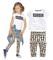 Cute Children Clothing Sets 2016 Summer Short Sleeve Letter ...