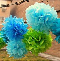 도매 - 29 색상! 4inch 50PCcs 티슈 페이퍼 POM POMS 꽃 키스 공 홈 인테리어 축제 파티 용품 웨딩 부탁