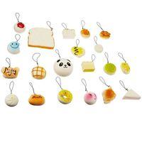 Venta al por mayor de Kawaii suave lindo Teléfono correas blando de Rilakkuma dona Panda lento aumento de Squishies Jumbo bollos encantos del teléfono