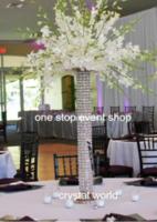 vase en verre de cylindre transparent grand vase de décoration florale pour centres de table de mariage