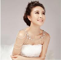 Nuovo arrivo design unico gioielli spalla catena strass cristalli nozze gioielli da sposa set accessori abito TS000064