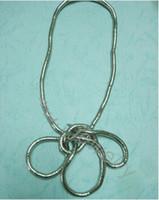 Toptan- (Min. 10 $ mix sipariş) 5mm 90cm uzunluğunda bükülebilir yılan zinciri esnek büküm takı kolyeler bükülmüş kolye gibi giyim