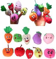 1000 шт./лот DHL Fedex бархат фрукты овощной палец куклы детские Дети Детские игрушки палец куклы/игрушки Story-telling реквизит/инструменты игрушки