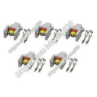 5 Sätze 2Pin Auto einspritzventil stecker sprühdüse / öl zerstäuber stecker, auto Elektrische steckverbinder P240PC024S8014, DJ7026-1.5-21