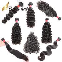 Bella Hair® Amostra Varejo 8-34 polegadas Não processado cabelo humano pacotes em linha reta onda corporal solta profunda onda natural onda onda