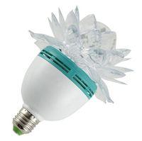 50шт горячие предметы красочный цветок лотоса 3W E27 светодиодный RGB автоматический вращающийся лампочка этап света рождественские рождественские вечеринки лампа бар огни высокого качества