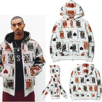 Men Sup Jacket funny full wrap court cards print zipper jack...