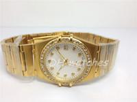 Nuevos relojes de estilo de dama de moda, diamantes marcan el reloj de pulsera de cuarzo para mujeres relojes de acero inoxidable 105