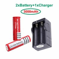 NEW 2pcs(A pair) Ultrafire Red Battery 18650 3000mAh 3. 7V Re...