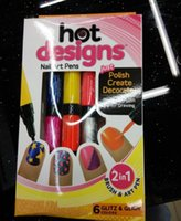 Hot Designs Double Nail Polish Pen Women Nail Art Pens 2 In ...