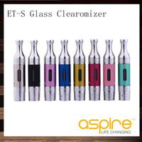 Aspire ETS BVC Glas Clearomizer ET-S BDC Glasomizer 3 ml Aspire ETS Zerstäuber Mit BVC BDC Spulen Kopf