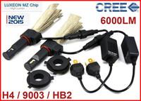 2 Sätze H4 9003 HB2 40W 6000LM CREE LED Scheinwerfer LUXEON MZ CHIP Fern- / Abblendlicht Xenon Weiß 6500K 12 / 24V Kupfergürtel H13 9004/9007 LED Kit