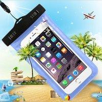 PVC imperméable IPX8 cas Swim plongée brassard poche bandoulière couverture pour l'iphone 4 6 5.5 5S plus Galaxy S3 S6 S5 4 HTC LG universel Téléphone