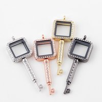 5PCS Lot!!Hot Key Shape Magnetic Glass Floating Locket Float...
