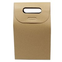 10. 5*15+ 6cm Kraft Paper Box Gift Packing Tote Bag With Handl...