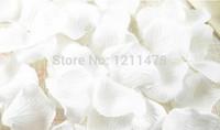 5,5 * 5,5 cm Lotto da 1000 pezzi bianco rosa e tessuto rosa petali di rosa per la decorazione di matrimoni