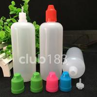 سريع الشحن لينة زايس شفافة LDPE 120ML زجاجة قطارة بلاستيكية Childproof كاب طويل رقيقة طرف زجاجة بلاستيكية 120ML