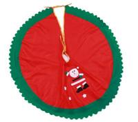 120pcs / lot 90cm تنورة شجرة سانتا كلوز شجرة عيد الميلاد تنورة شجرة شجرة عيد الميلاد الديكور لوازم الديكور