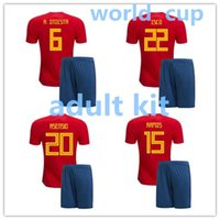 new arrive Spain home red Soccer Jersey kit 2018 world cup S...