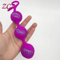 100%リアルフォトエクササイザー膣ダンベルスマートビーズラブボールを作る膣コロボルボールアダルト製品セックストイSX141