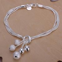 حار بيع هدية 925 الفضة الصغيرة O معلق ضوء حبة سوار DFMCH243، العلامة التجارية الجديدة من الفضة الاسترليني مطلي سلسلة ربط أساور درجة عالية