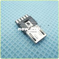 1000pcs / lot 도매 마이크로 USB 5P 플러그 납땜 와이어, 마이크로 USB 5Pin 커넥터 꼬리 남성 플러그를 충전