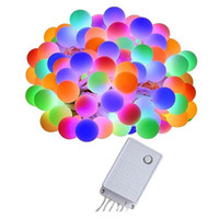 SXI Frete grátis 1 pçs / lote à prova d 'água cor mudando 8 modos 20 LED fada bola de natal luzes da corda para a decoração do feriado