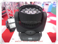 2 / lot di alta qualità 19 * 15w rgbw zoom led moving head wash illuminazione a testa mobile