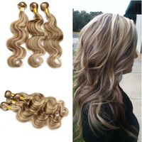 Good Quality Piano Color Body Wave Human Hair Bundles With L...