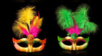 Masks Princess gold dust feather mask fluffy feathers Hallow...