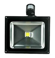 (4pcs / lot) 85-265V 10W 20W 30W 50W 70W 100W PIR LED Proyector LED exterior Lámpara de inundación luz con sensor de movimiento Detector spot