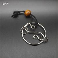 Vintage Eight Trigram Ring Puzzle Metal Iq Juegos para niños Juguete Diversión Rompecabezas Prueba Mente