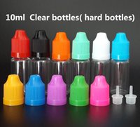 5ml 10ml 15ml 20ml 30ml 50ml PET Clear bottle Botella plástica cuentagotas vacía con tapa a prueba de niños y puntas finas para E líquido