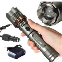 Ultrafire 2000 Lumens Cree XM-L T6 LEDズーム可能ズーム懐中電灯トーチ+ AC /車の充電器送料無料