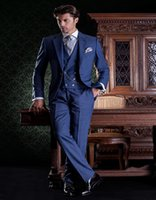 Wholesale - Electric Blue Formal Suit With 2 Buttons And Sha...