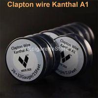 KanthalA1 Клэптон проволока сопротивление провода 15 футов 26 32Gauge vape моды RDA электронной сигареты сигареты распылитель RBA пара DIY pre катушки